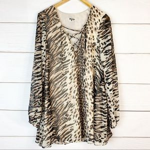 Show Me Your MuMU Thunderbird Le Tigre Dress Large